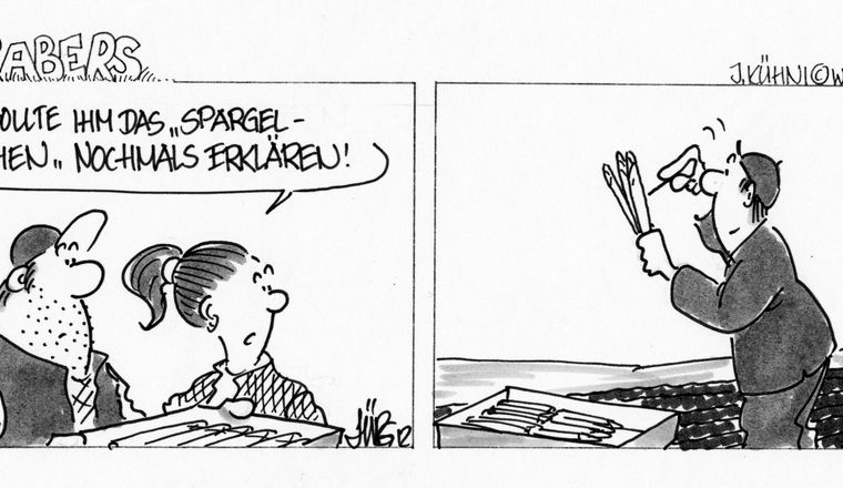 Spargel-Cartoon Public Domain