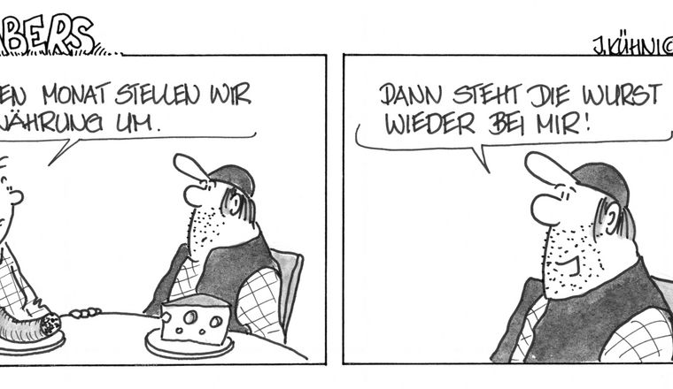 Grabers Cartoon Essen